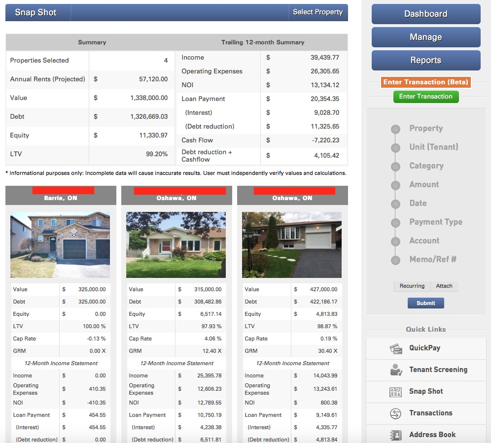 True Rent Real Estate Investment Property Accounting and Organizing